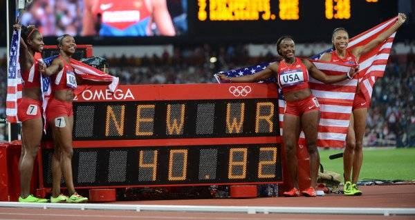 Олимпиада-2012: Украинки третьи в эстафете 4 по 100